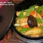 Crispy Pork Belly with Tofu & Chinese Mushroom Hot Pot